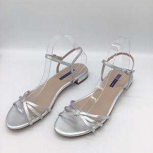 NWOT Stuart Weitzman Starla silver sandals strappy